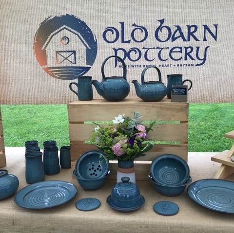 Old barn pottery booth