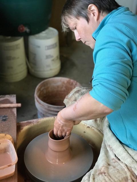 Oldbardpottery throwing